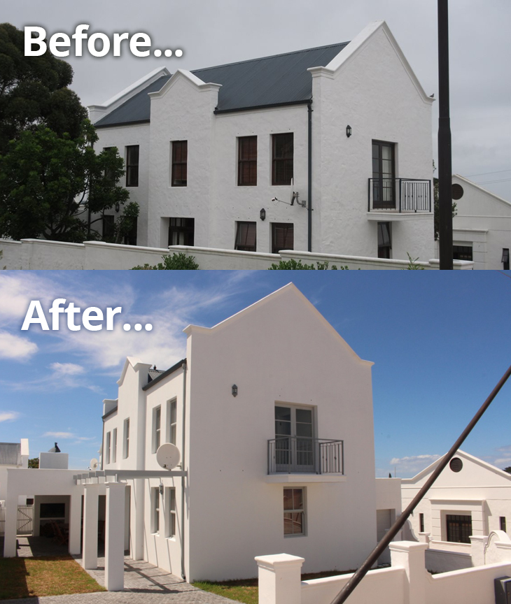 BEFORE AND AFTER A RENOVATION